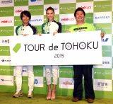 同イベントに出席した(左から)中西哲生、道端カレン、フォーリンデブ・橋本陽(C)ORICON NewS inc.