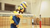 バレーボールでは見事なスパイクを習得