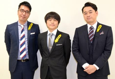 (左から)おぎやはぎ・小木博明、バカリズム、バナナマン・設楽統 (C)ORICON NewS inc.