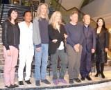 ピアノリサイタル『THE COMPLETE ETUDES』記者会見に出席した(左から)ジェシー・スミス、テンジン・チョーギャル、レニー・ケイ、パティ・スミス、フィリップ・グラス、久石譲、滑川真希 (C)ORICON NewS inc.
