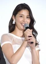 映画『任侠野郎』初日舞台あいさつに登壇した橋本マナミ (C)ORICON NewS inc.