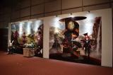 東京・汐留の日本テレビ2階で『アリスと時間のアート展』(6月4日〜12日)の展示の一部