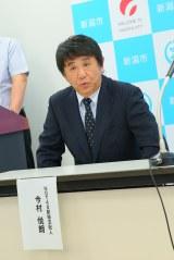 新潟開催の総選挙に向け記者会見したNGT48の今村悦朗劇場支配人(C)AKS