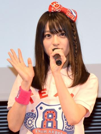 高校野球総合情報サイト『バーチャル高校野球』の公式応援キャラクターに就任したAKB48 Team8・佐藤七海 (C)ORICON NewS inc.