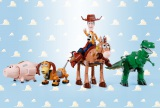 『超合金 トイ・ストーリー 超合体 ウッディロボ・シェリフスター』(左から)ハム、スリンキードッグ、ウッディ&ブルズアイ、レックス(C)Disney/Pixar