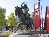 JR上田駅前の真田幸村公銅像