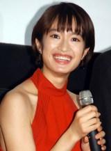 映画『二重生活』の完成披露試写会舞台あいさつに出席した門脇麦 (C)ORICON NewS inc.