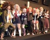 出演者一同(左から)松風雅也、山崎静代、岡本玲、本郷奏多、神田沙也加、中村優一、七木奏音 (C)ORICON NewS inc.