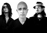 新作ゲーム『LET IT DIE』に楽曲提供するEDO(左から)ダイチ・ヨコタ、マーク・パンサー、クラウディオ