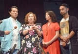(左から)夫の勝野洋、娘の雅奈恵氏、息子の勝野洋輔も出席 (C)ORICON NewS inc.