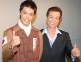 結婚を発表した清水良太郎(左)への祝福に感謝した清水アキラ (C)ORICON NewS inc.