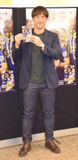 『未到〜奇跡の一年〜』の発売記念イベントを行った岡崎慎司選手 (C)ORICON NewS inc.