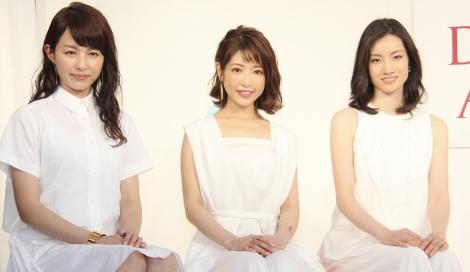SK-IIのスペシャルイベントに登場した(左から)平井理央、荒川静香、舟山久美子(C)oricon ME inc.