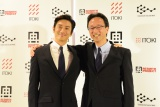 「CSW」事業のスタートを発表した伊勢谷友介(左)とイトーキ平井社長(右) (C)oricon ME inc.