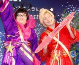 織姫&彦星の衣装で登場したメイプル超合金(左から)安藤なつ、カズレーザー=『〜アクロボールで願いが叶いますように〜PILOTアクロボール Star Festival』 (C)ORICON NewS inc.