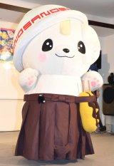 DVD付CD『みんないっしょに!ご当地キャラクターたいそう』完成発表会に登場したさのまる (C)ORICON NewS inc.