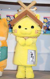 DVD付CD『みんないっしょに!ご当地キャラクターたいそう』完成発表会に登場したしまねっこ (C)ORICON NewS inc.