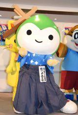 DVD付CD『みんないっしょに!ご当地キャラクターたいそう』完成発表会に登場したちょるる (C)ORICON NewS inc.