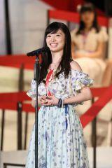 『第8回AKB48選抜総選挙』10位で選抜入りしたAKB48・武藤十夢 (C)AKS