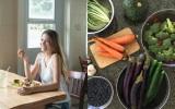 (左)カフェ「アイラブナロ」で野菜たっぷりのランチを食べるひなのさん(C)「offto Hawaii」photo by Akemi Kurosaka/(右)ハワイのオーガニック野菜