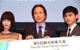 SSFF&ASIAクロージングセレモニーに出席した(左から)橋本愛、姜尚中、高良健吾 (C)ORICON NewS inc.