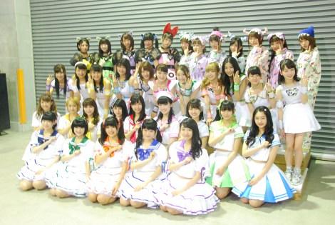 avex初のアイドルレーベル「iDOL Street」に所属するアイドルが大集合(SUPER☆GiRLS、Cheeky、Parade、GEM、わーすた)(C)ORICON NewS inc.