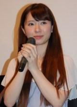 映画『大怪獣モノ』完成披露舞台あいさつに出席した河西美希 (C)ORICON NewS inc.