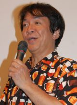 映画『大怪獣モノ』完成披露舞台あいさつに出席した河崎実監督 (C)ORICON NewS inc.