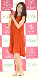 新スキンケアシリーズ『ORIGAMI(オリガミ)』の新商品発表会に出席した酒井法子 (C)ORICON NewS inc.