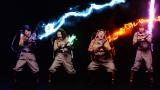 映画『ゴーストバスターズ』のテーマ曲をカバーした日本オリジナルVer.のミュージックビデオが完成。(左から)友近、椿鬼奴、渡辺直美、山崎静代(しずちゃん)