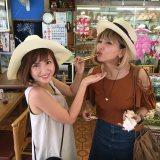 7月6日よりスタートするTBS系新番組『タビフク。』(毎週水曜 深夜25:53〜)第二回は紗栄子とMINMIが出雲の旅へ(C)TBS