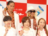 江崎グリコ『seventeen ice「PLAY!17」PRイベント』に出席したTRF(前列左から)ETSU、YU-KI、CHIHARU、(後列左から)SAM、DJ KOO (C)ORICON NewS inc.
