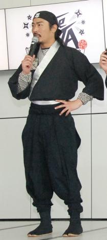 忍者の扮装が似合う菅良太郎=企画展『The NINJA-忍者ってナンジャ!?-』プレス内覧会 (C)ORICON NewS inc.