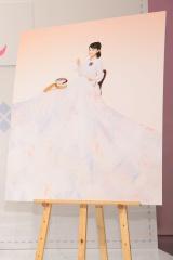 秋スタートのNHK連続テレビ小説『べっぴんさん』刺しゅうする前のポスター用写真