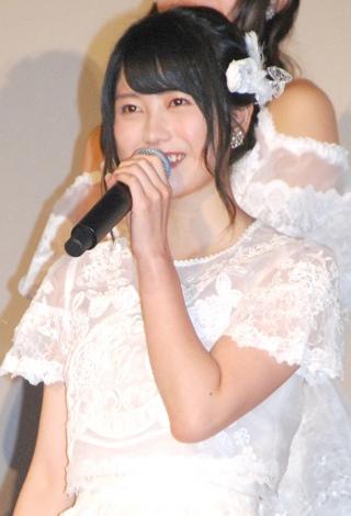 AKB48ドキュメンタリー映画第5弾『存在する理由 DOCUMENTARY of AKB48』舞台あいさつに出席した横山由依 (C)ORICON NewS inc.