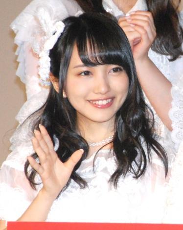 AKB48ドキュメンタリー映画第5弾『存在する理由 DOCUMENTARY of AKB48』舞台あいさつに出席した向井地美音 (C)ORICON NewS inc.