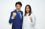 テレビ朝日のリオ五輪メインキャスターを務める松岡修造とフィールドリポーターに起用された寺川綾(C)テレビ朝日