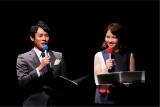 7月1日、大阪市内で行われた『第37回ABCお笑いブランプリ』最終予選の司会を務めた横山太一、ヒロド歩美アナウンサー(C)ABC