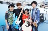 映画『君と100回目の恋』の劇中バンド・The STROBOSCORP(ストロボスコープ)の写真が解禁(左から)泉澤祐希、竜星涼、miwa、坂口健太郎