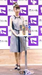 自身プロデュースの日本酒『三ニ四の酒』発売記者会見 (C)ORICON NewS inc.