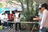 流しそうめんの模様=映画『森山中教習所』公開記念LINE LIVE特番 (C)ORICON NewS inc.