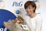 P&G『ママの公式スポンサー リオデジャネイロオリンピック壮行会』に出席した石川佳純選手 (C)ORICON NewS inc.