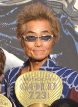 映画『ONE PIECE FILM GOLD』完成披露イベントに浴衣姿で登壇した矢尾一樹 (C)ORICON NewS inc.