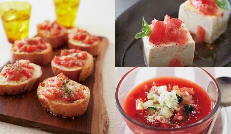 サムネイル 酢トマトを使用した料理の数々