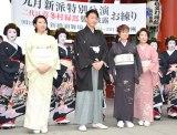 (左から)春本由香、市川月乃助、水谷八重子、波乃久里子 (C)ORICON NewS inc.