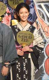 映画『ONE PIECE FILM GOLD』完成披露イベントに浴衣姿で登壇した菜々緒 (C)ORICON NewS inc.