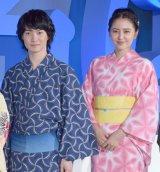 浴衣姿を披露した(左から)神木隆之介、長澤まさみ (C)ORICON NewS inc.