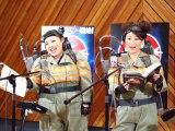 映画『ゴーストバスターズ』の公開アフレコイベントに参加した渡辺直美、友近(左から)