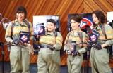 映画『ゴーストバスターズ』の公開アフレコイベントに参加した山崎静代(南海キャンディーズ)、渡辺直美、友近、椿鬼奴(左から)