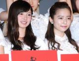 ドキュメンタリー映画第5弾『存在する理由 DOCUMENTARY of AKB48』初日舞台あいさつに登壇した(左から)武藤十夢、島崎遥香 (C)ORICON NewS inc.